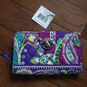 Vera Bradley Heather turn key wallet